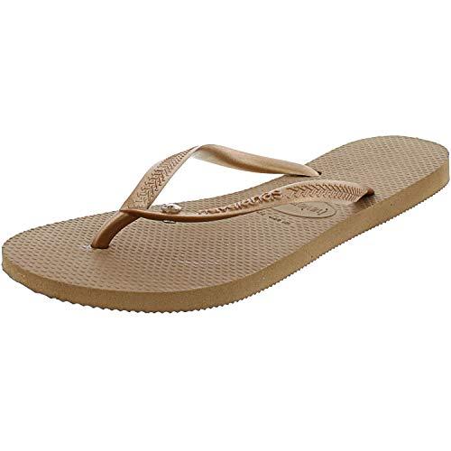 Havaianas Women's Slip-On Flip-Flop, Rose Gold, 7-8