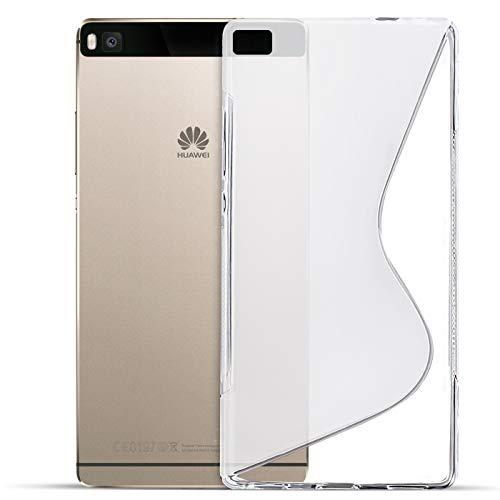 Conie SC8171 S Line Hülle Kompatibel mit Huawei G620s, TPU Smartphone Hülle Transparent Matt rutschfeste Oberfläche für G620s Rückseite Design Clear