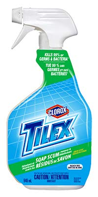 Tilex Bathroom Cleaner 32Fl.Oz Soap Scum Remover Spray Pack of 2 (Package May Vary)