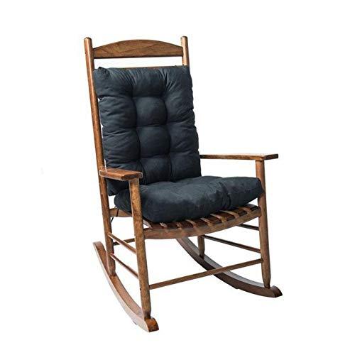 YIEBAI 2Pcs / Set Home Cane Chair Cojín Cómodo jardín al Aire Libre Cojín antiincrustante Estera,Negro