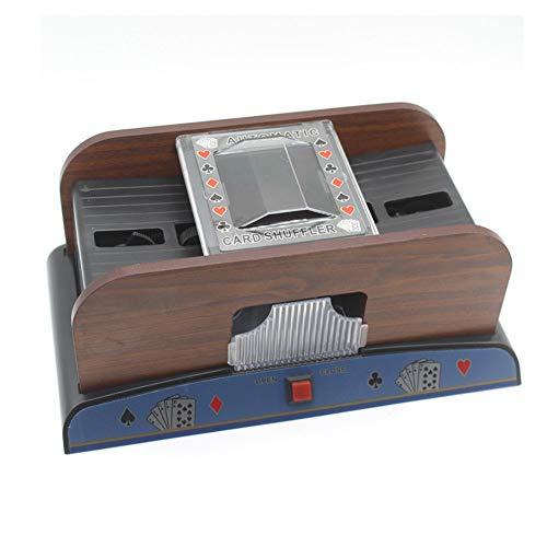 WHFY Kartenmischmaschine 2 Decks Elektrische Mischmaschine, Automatischer Kartenmischer batteriebetrieben von Karten beim Pokern 2 x 1, 5V Batterien Nicht enthalten für Kartengröße bis 9, 2 x 6 cm