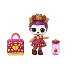 Unbox 7 surprises, including a limited edition Bebé Bonita doll with L.O.L. Surprise! Spooky Sparkle. Limited edition Bebé Bonita got a sparkly makeover with glitter details, new fashion, a flowery purse accessory and more. Doll glows in the dark! Af...
