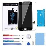 Beefix Ecran de Remplacement Compatible pour iPhone 7 4.7'Noir, LCD Digitizer Ecran Tactile Digitizer avec Outils de Réparation