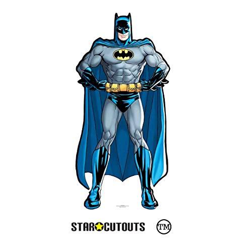 STAR CUTOUTS Mini-Pappaufsteller Star, Höhe 92 cm, ideal für Batman-Fans, Geschenke, Raumdekoration und Partys, Pappe, Mehrfarbig, 92 x 44 x 92 cm