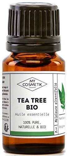 Huile essentielle de Tea Tree (Arbre à Thé) Bio AB - 100% pure et naturelle HEBBD - My Cosmetik - 10 ml