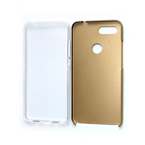 SINO Funda Xiaomi Mi 8 Lite para Ultra Delgado Shockproof 360 Completo Cubierta Protectora Dura para Teléfono Móvil Set TPU+PC (Xiaomi Mi 8 Lite, Dorado)