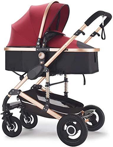 TOKUJN Cochecito Compacto, Cochecito Convertible, Bicicletas para niños pequeños, cochecitos Plegables con Ruedas Frontales de 360 Grados y Techo Ajustable de 4 velocidades, cochecitos de absorción
