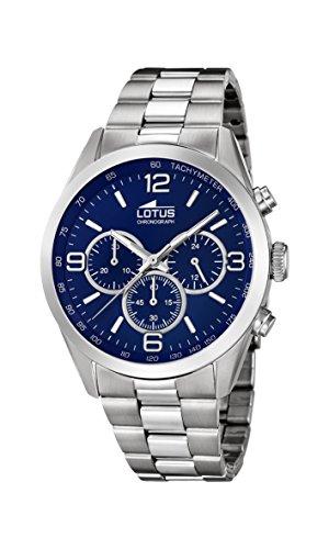 Lotus Watches Reloj Cronógrafo para Hombre de Cuarzo con Correa en Acero Inoxidable 18152/4
