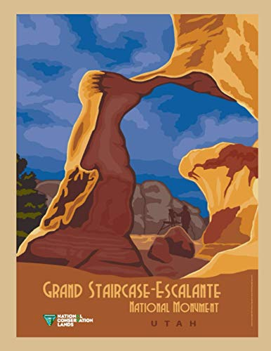 Grand Staircase Escalante National Monument Utah: Vintage Travel Poster Cover | Jan...