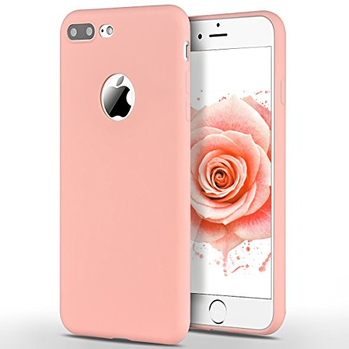 SpiritSun Custodia Apple iPhone 7 Plus (5.5 Pollici) iPhone 7 Plus TPU Silicone Custodia Slim Bumper per iPhone 7 Plus (5.5 Pollici) Case Protezione Case Copertura Cover - Rosa