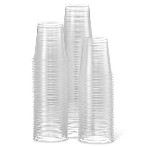 [400 Cups] Settings 3 Oz Clear Plastic Disposable Reusable Cups For Drinking, Bathroom, Rinsing, Tests, Medication, Party, Home, Office, Water, Juice, 4 Packs