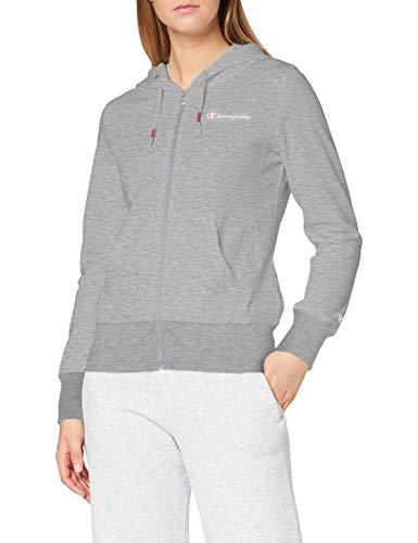 Champion Femme - Sweatshirt à Capuche Zippé Classic Small Logo - Gris, XL