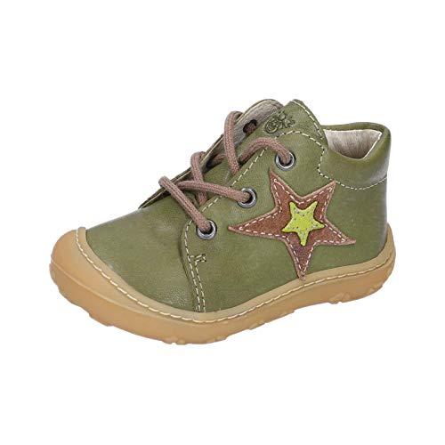 RICOSTA Unisex - Kinder Stiefel Romy von Pepino, Weite: Mittel (WMS), Boots schnürstiefel Leder,Leaf,19 EU / 3 Child UK