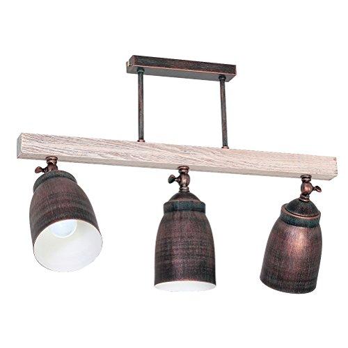 Deckenleuchte Alejo - 3 flammig | Deckenlampe 3xE27 230V | Leuchte im Landhausstil | Lampe inklusive Leuchtmittel