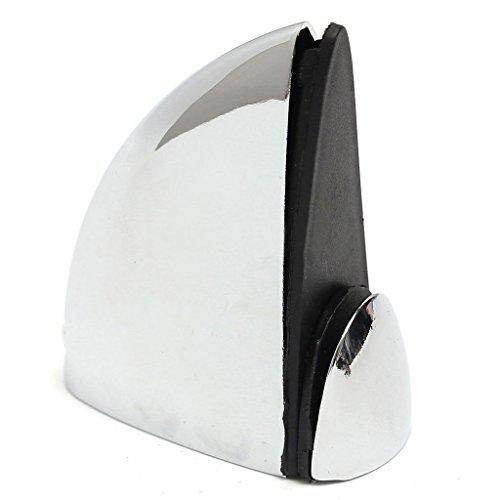 Glazen plank steun - TOOGOO(R) 4 X gepolijst chroom glas plank steun klem beugels badkamer voor planken 48 * 50mm