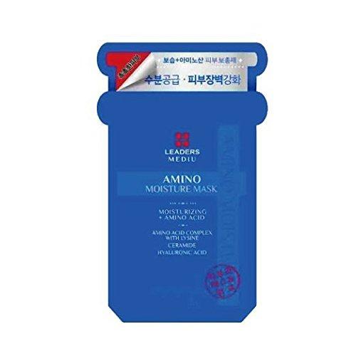 Leaders Cosmetic New Mediu Amino Moisture Mask 1Box 0.85 Oz/25Ml x 10ea