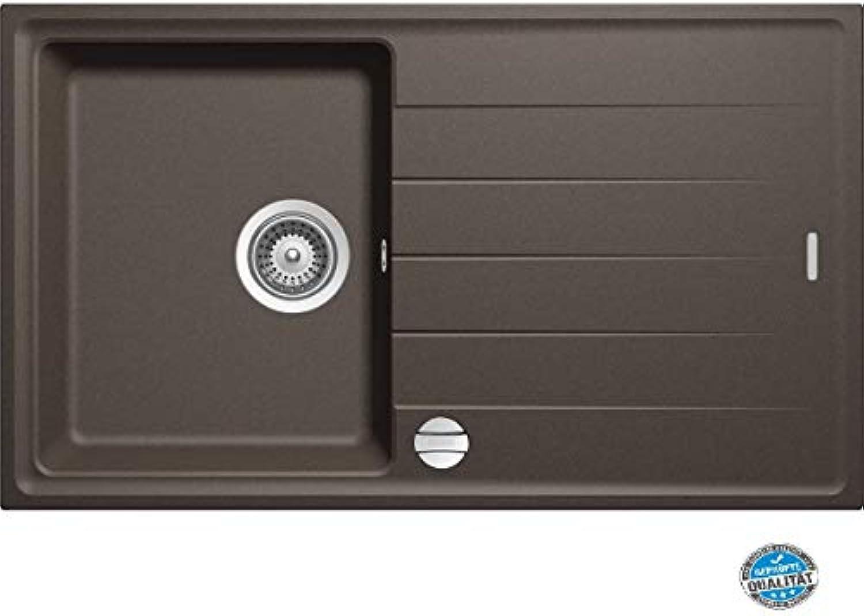 SUCCSALE-S780 Granitspüle MANHATTAN-780 x 500 Küchenspüle Einbauspüle- Spülbecken 45 50er Schrank- Drehexcenter -braun