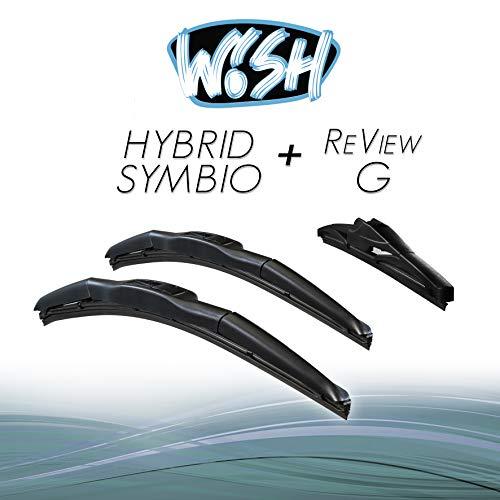 Wish® Hybrid Symbio Satz Front + Heck Scheibenwischer Länge: 24