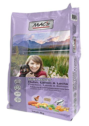 MAC's Adult Mini Huhn, Lamm, Lachs, 1er Pack (1 x 3 kg)