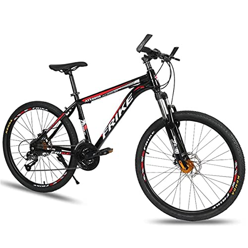 Bicicleta de montaña para adultos 21/24/27 Cuadro de aluminio Ruedas de radios de 26 pulgadas Bicicleta de suspensión delantera adecuada para hombres y mujeres entusiastas del ciclismo (tamaño: 21 vel