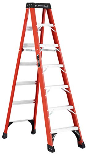 Louisville Ladder FS1407HD Fiberglass Step ladde3r, 7-Feet, Orange