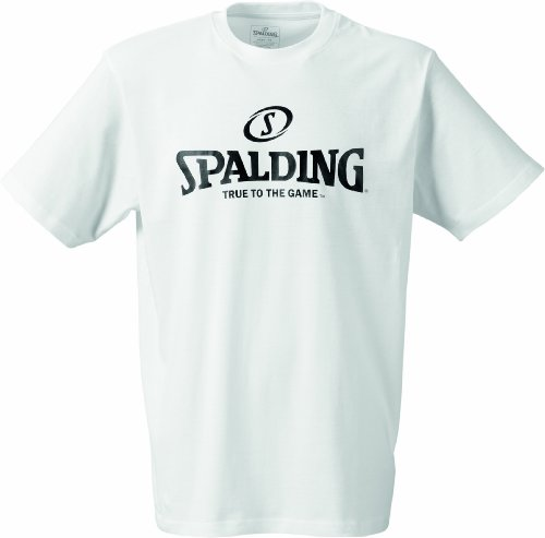 Spalding Basketball-fanartikel Logo T-shirt, color blanco (weiß) - M