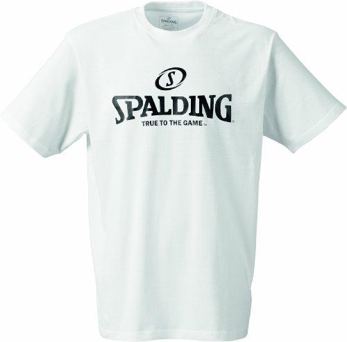 Spalding Herren Basketball-Fanartikel Logo T-Shirt, weiß, L