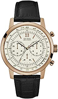 Guess Sport Watch for Men, Stainless Steel Case, White Dial, Chronograph -W0916G2