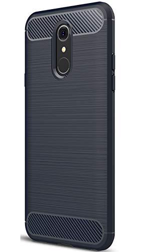 XINFENGDILG Q7 Funda, TPU Slim Silicona Case Cover [Anti-arañazos] Funda para Smartphone LG Q7 - Azúl