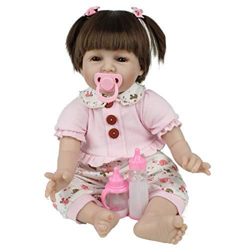 Vollsilikon Vinyl Reborn Baby Doll Realistische Mädchen Babys Puppen 22 Zoll 55 cm Lebensechte Prinzessin Kinder Spielzeug Kinder Geburtstagsgeschenk Frühes Lernen Fotografie Requisiten