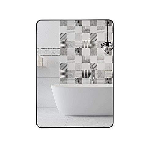 Bathroom mirror HXLQ Espejo De Baño Rectangular Espejo De Pared De Metal con Estante,Espejo De Vanidad Espejo del Pasillo del Dormitorio,Se Cuelga Horizontal Y Vertical