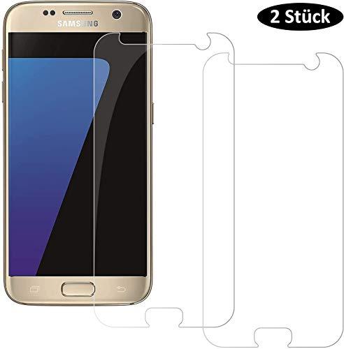 ONLIOM 2 Stück Panzerglas für Samsung Galaxy S7, 9H Anti-Kratzer Display Panzerglasfolie, Schutzfolie Kompatibel mit Samsung S7