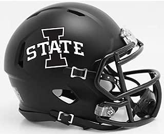 Iowa State Cyclones Matte Black NCAA Riddell Speed Mini Football Helmet