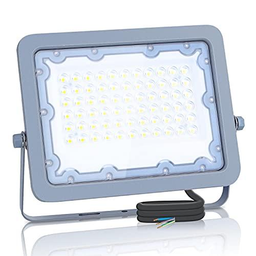 Aigostar Focos Led Exterior, 50W 6500K LED Floodlight Exterior, luz de inundación para exteriores de 4500LM a prueba de agua IP65 para patio, jardín, garajes