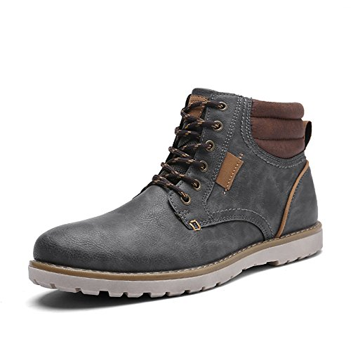 EYUSHIJIA Men's Waterproof Snow Boots Hiking Boot (10 D(M) US, Dark Gray)