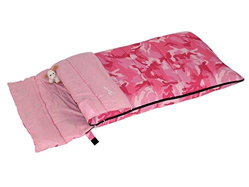 Bertoni Bimbo Junior 150 Kinder-Schlafsack für Camping oder Zuhause, Tarnrosa, Einheitsgröße