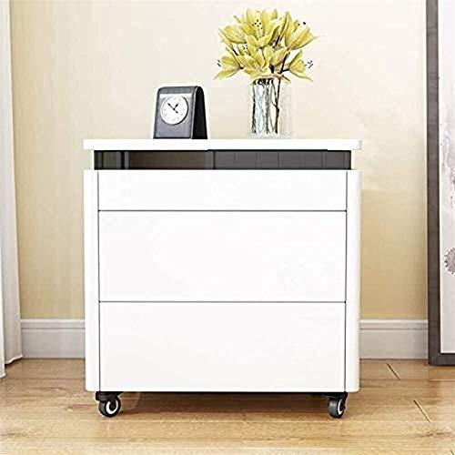 Bath chair Home Bedroom Decoration Cabinet Bedside Table Multifunctional Lifting Bedside Computer 2 Drawers CHFYG (Color : A, Size : 45x40x55cm)
