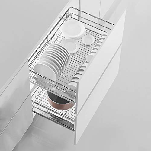 Cupboard Organizers Yxx@ Cajón de Cocina telescópico, cajón de Almacenamiento para Armario, cajón de Taller con Estante para Cocina y Dormitorio Cesto extraíble para armarios de Cocina