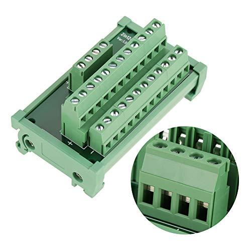 Placa de carril DIN, módulo de distribución de energía de 12 posiciones, conectores de terminales de placa PCB 48v 1A utilizados para placa de módulo de rieles de 35 mm de ancho