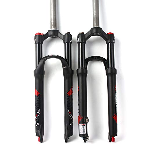 BUCKLOS 【UK STOCK】 Mountain Bicycle Suspension Forks, 26/27.5/29 inch MTB Bike Front Fork with Rebound Adjustment, 100mm Travel 28.6mm Threadless Steerer