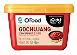 Chung Jung One Hot Pepper Paste Gold (Gochujang), Korean Traditional Sunchang Brown Rice Red Pepper Paste, No Corn Syrup 1.1lb, Medium Hot (500g)