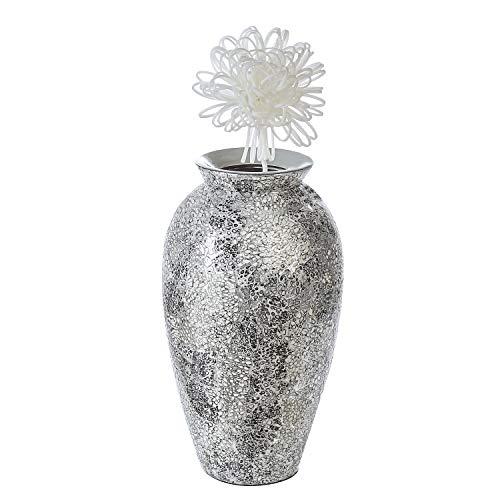 Casablanca Deko Vase - aus Keramik - Mosaik-Optik handgefertigt H 42 cm