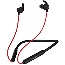 Noise Tune Active Wireless Bluetooth Earphones with Dynamic Drivers for Immersive Music Experience, IPX5 Sweat-Proof & Rain-Proof, 10 Hours of Playtime (Hot Red),Nexxbase,AUD-HDPHN-TUNEACTIVE-BLKRED