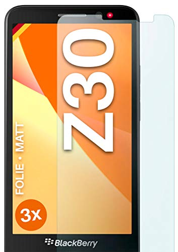 moex Schutzfolie matt kompatibel mit BlackBerry Z30 - Folie gegen Reflexionen, Anti Reflex Bildschirmschutz, Matte Bildschirmfolie - 3X Stück