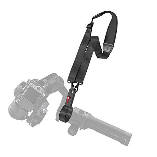 FEPITO Tracolla per stabilizzatore cardanico con clip in lega di alluminio CNC compatibile con Ronin S