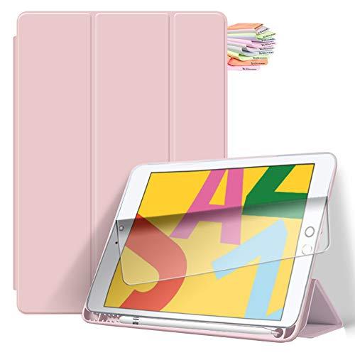 Billionn for iPad 9.7-inch Case (2018 iPad 6th / 2017 iPad 5th Generation), with Pencil Holder & Auto Sleep/Wake, Also Fit iPad Air 2 / iPad Air - Pink