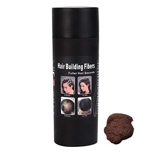 Fibres de renforcement des cheveux, 15g Fibres de cheveux Épaississement des cheveux Fibre d'addition Fibre de soins capillaires naturels pour femmes et hommes (marron foncé)
