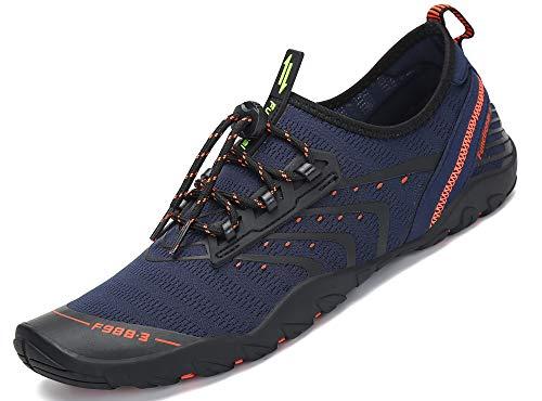 Unisex Zapatos de Agua Deportes Acuáticos Calzado de Natación Escarpines Hombre Mujer para Buceo Snorkel Surf Piscina Playa Vela Mar Río Aqua Cycling, Azul 47