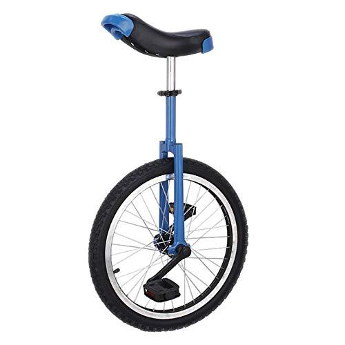 AHAI YU Kinder Jungen Mädchen Einräder (16/18 Zoll), Männer Teenager Anfänger Balance Radfahren für Outdoor-Sport-Fitness-Übung, 03.05.11.13 Jahre alt (Color : Blue, Size : 16 INCH)