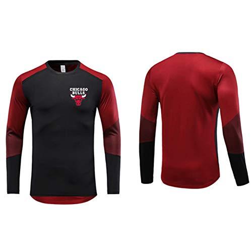 CNMDG Chicago Bulls Herren Basketball Jersey Trainingskleidung, Jordan Red 23# Fitness Sport Training Basketball-Shirt, Unisex Langarm Training Sportkleidung (M-5XL) XXL